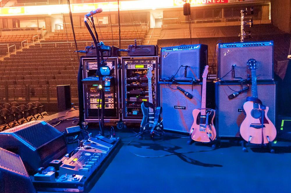 Instrumente auf Bühne