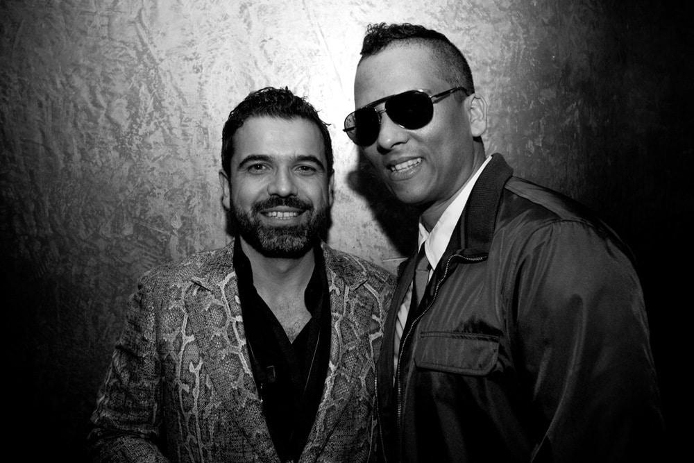 Gibson-Boss Madjid Djamegari (links) mit Xavier Naidoo