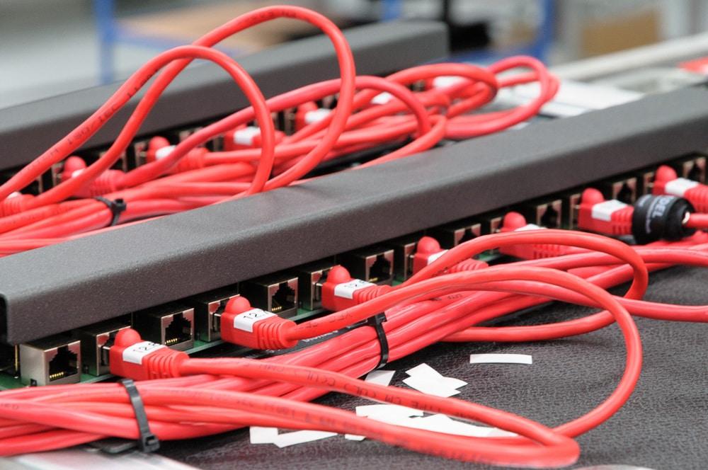 Netzwerk-Steckfeld