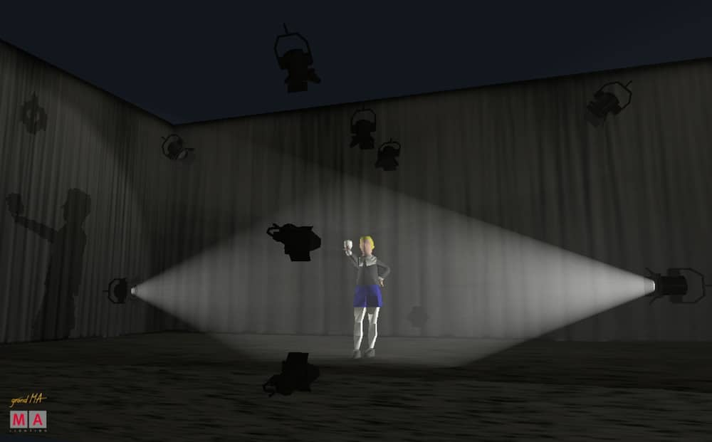 Gassenlicht – Sicht von der Seite, nach vorne hin abgeschattet