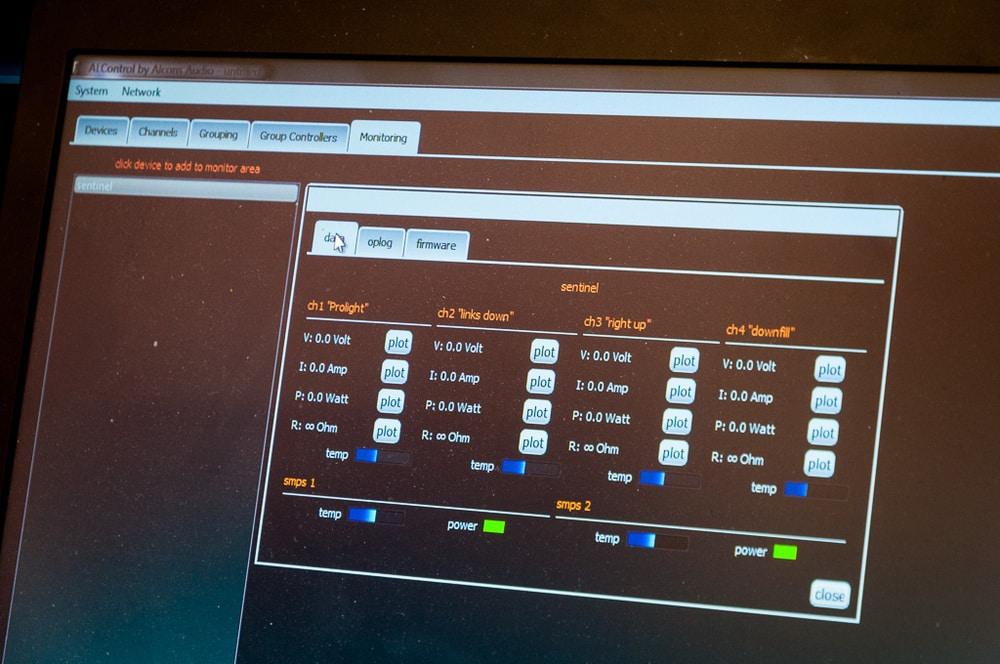 Alcons Audio ALControl zur Steuerung der Sentinel-Amps