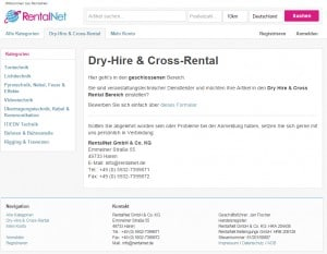 Geschlossener Dry-Hire & Cross-Rental-Bereich