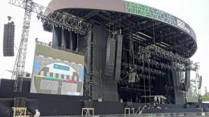 Die Hauptbühne beim Rock Werchter Festival 2015