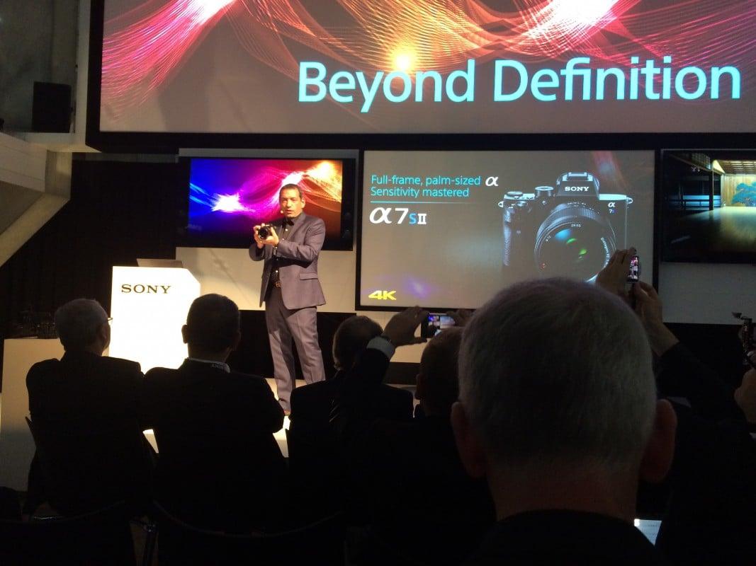 Präsentation der Sony A7SII auf der IBC 2015