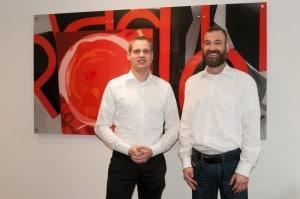 Geschaftsführer Johannes Pradler und Franchise-Manager Jochen Blumenthal