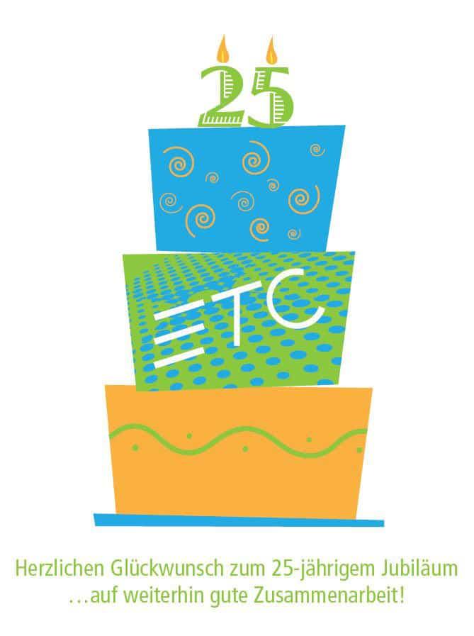 ETC gratuliert PP zum Jubiläum
