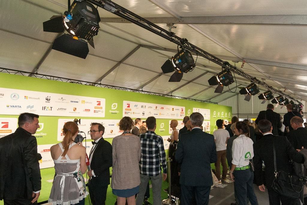 Der grüne Teppich bei den GreenTec Awards 2015