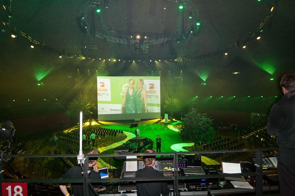 Blick auf die Hauptbühne bei den GreenTec Awards 2015