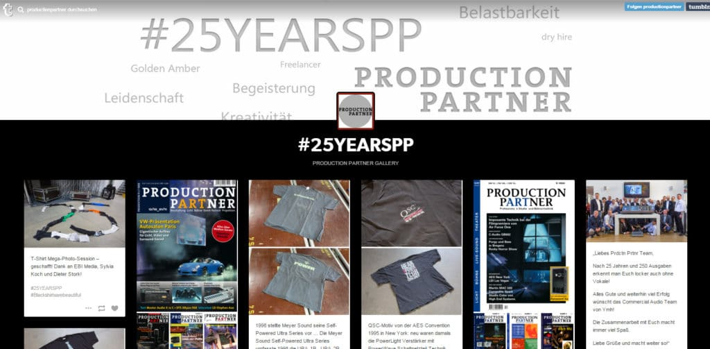 #25YEARS bei Tumblr