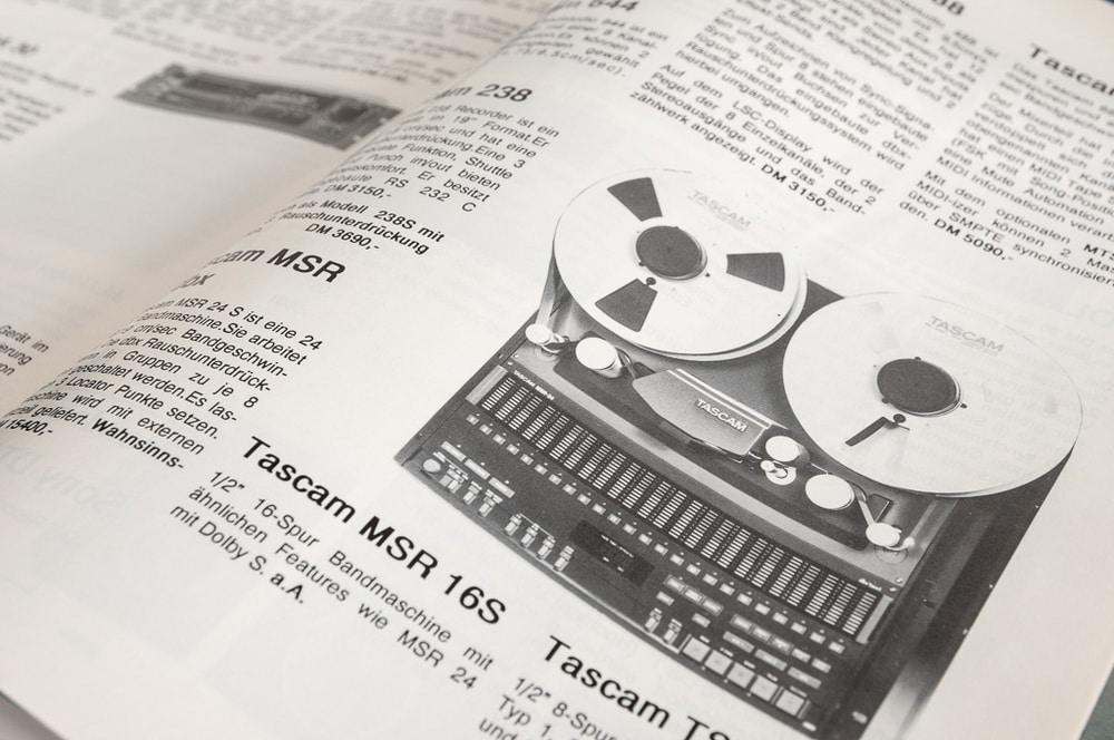 Bandmaschine Tascam MSR 24dbx