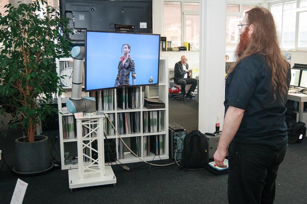 Display am Roboterarm