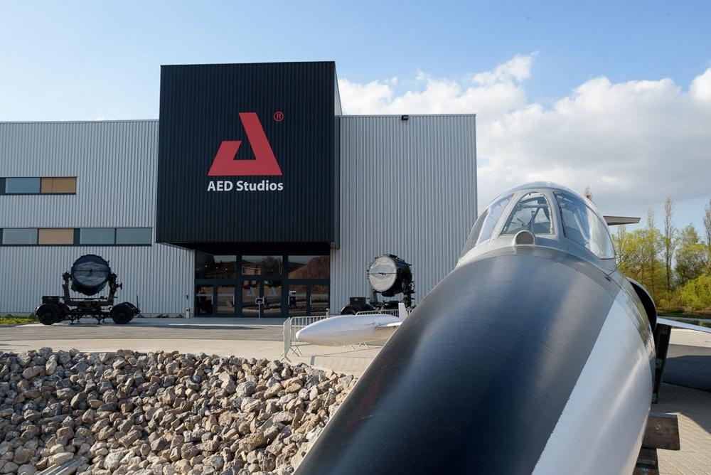 Neuer Besuchereingang der AED Studios