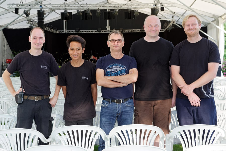 Crew des Mainau Open-Airs