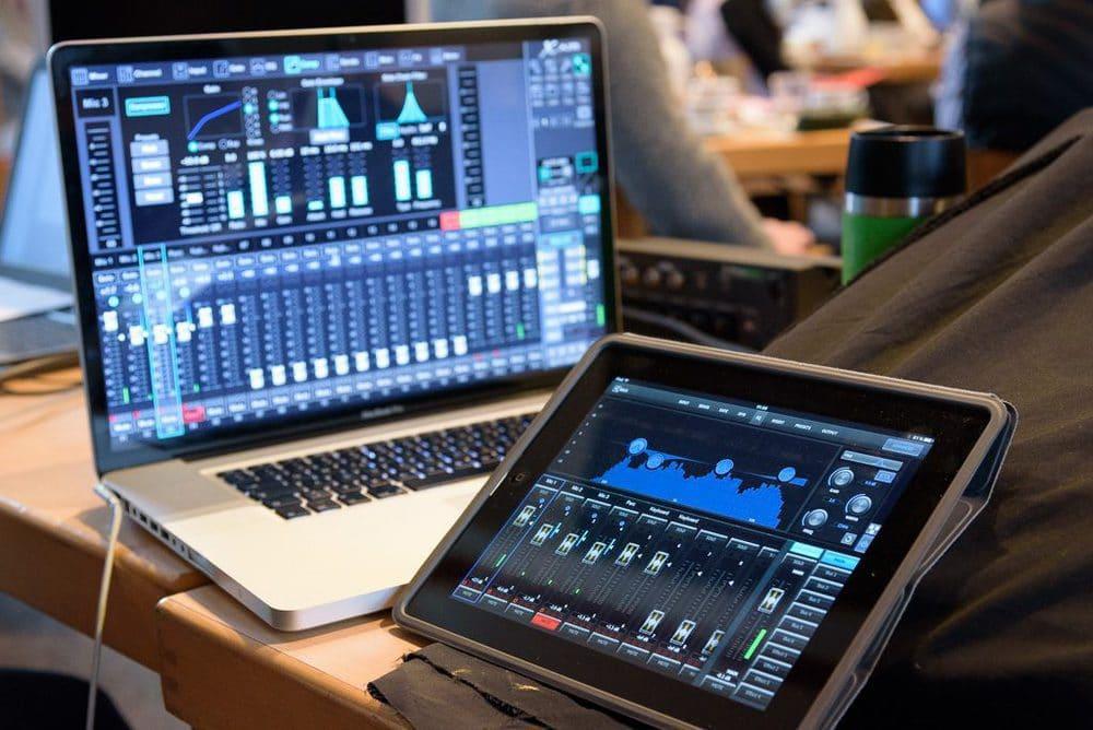 Midas-Bedienung auf Tablet und Laptop