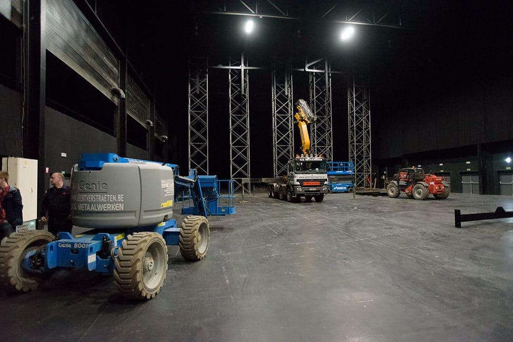 Umbauarbeiten in den AED Studios