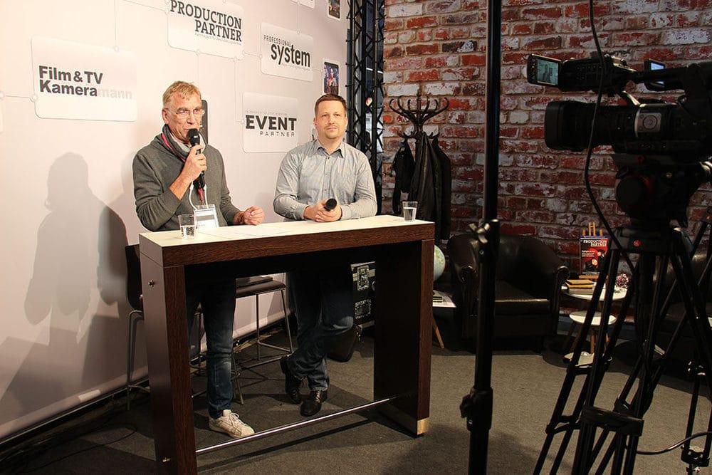 Facebook Live von der Prolight + Sound mit Ebi Kothe (l.) und Ralf Stroetmann (VPLT)
