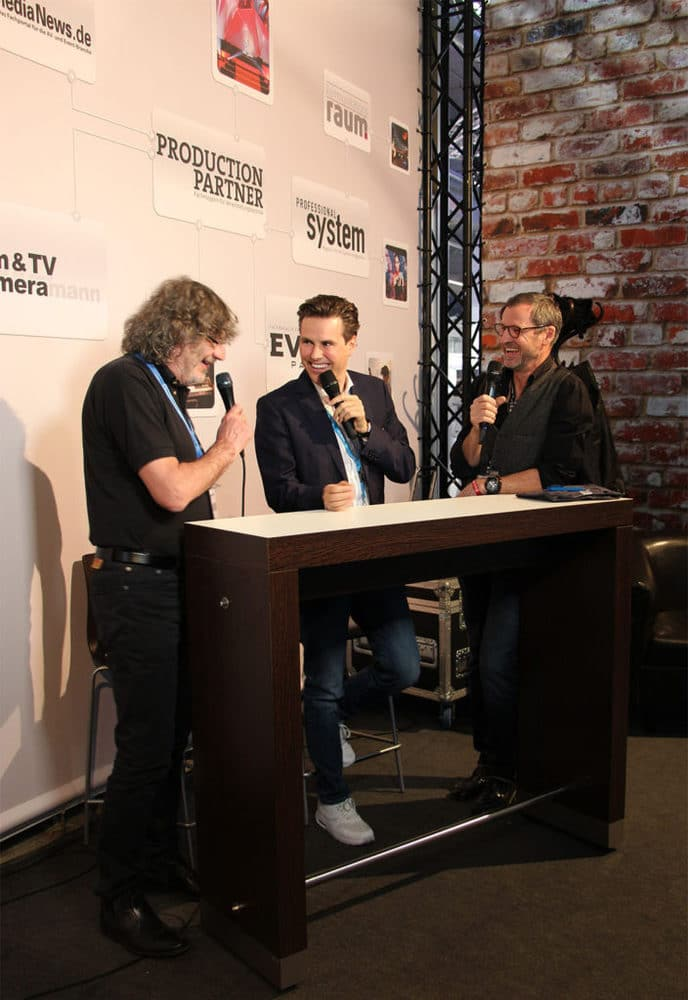 Adam Hall Group im Facebook Live Videostudio von PRODUCTION PARTNER auf der Prolight + Sound 2017