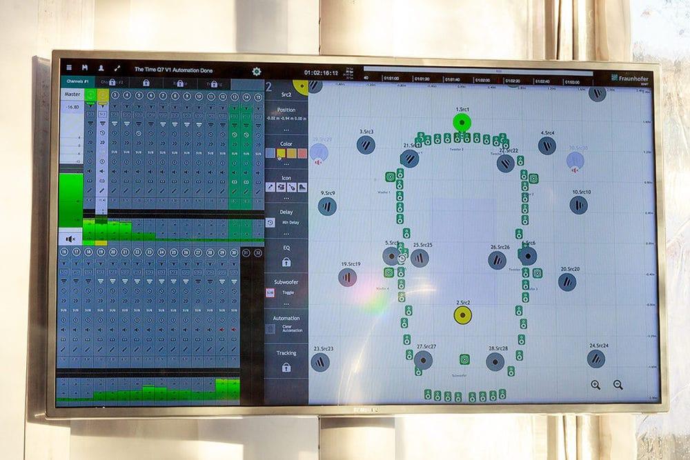 Softwareoberfläche von Astro Spatial Audio