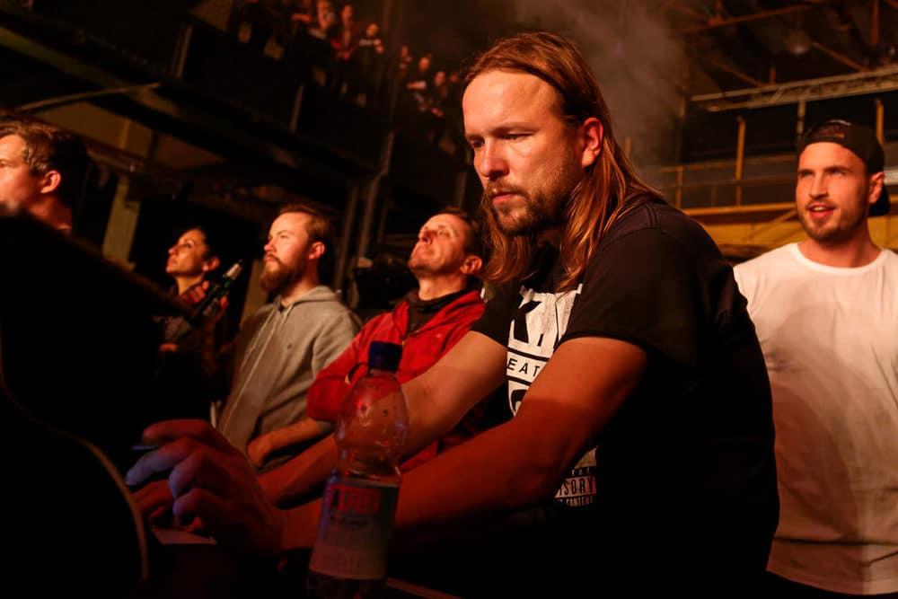 Systemspezialist Alexander Lewin während des Jennifer Rostock Konzerts 2017 im Palladium Köln.