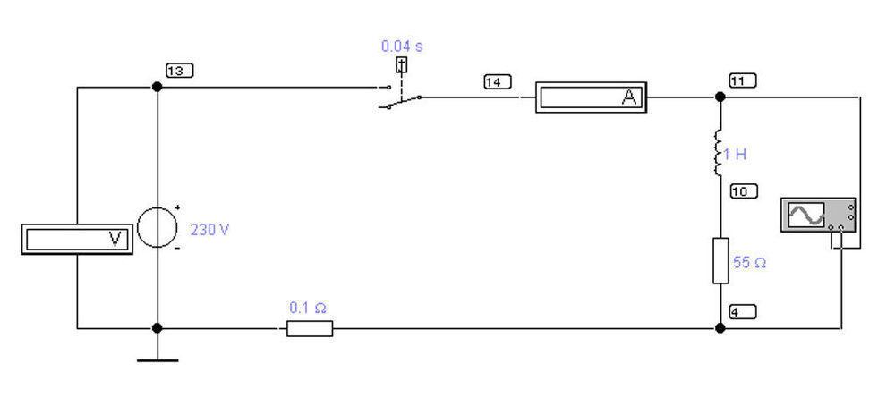 Simulationsschaltung einer R-L Last