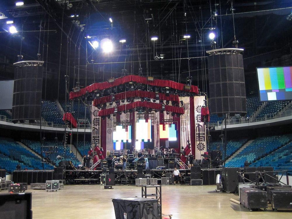 Guns N' Roses Bühnenaufbau in Miami