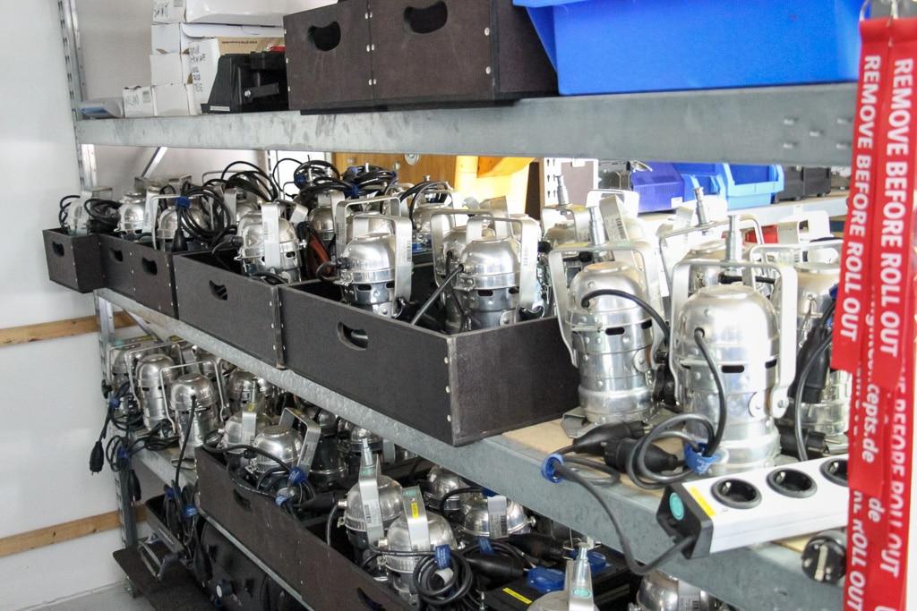Auch Kleinteile und komplexes Equipment sind schnell verpackt