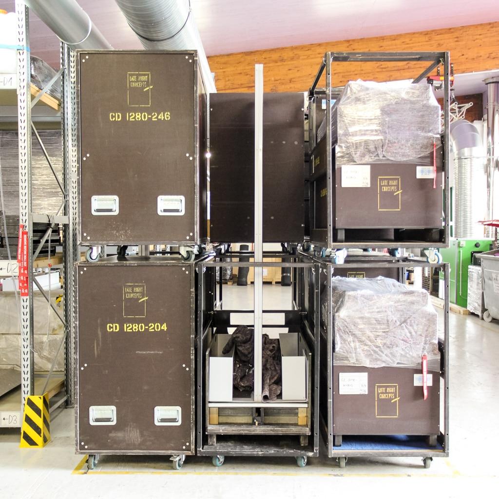 Die Cargo-Carts-Größen entsprechen den Maßen von Lkw-Ladeflächen