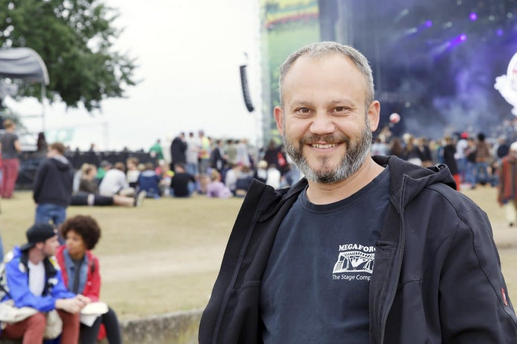 Dipl.-Ing. Arch. Florian Pott war beim Summerjam Festival 2017 Projektleiter im Auftrag von Megaforce