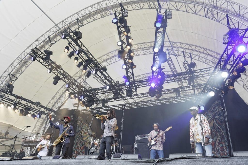 Skatalites bei ihrem Auftritt auf der Green Stage