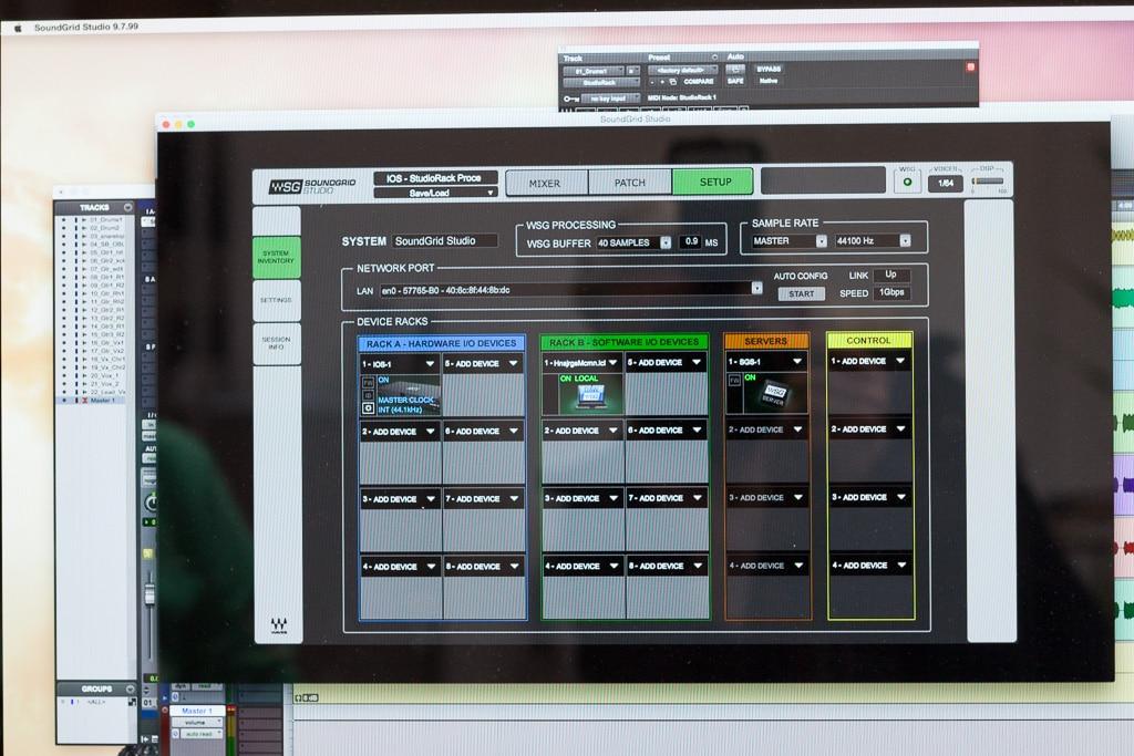 Aufteilung Soundgrid Studio