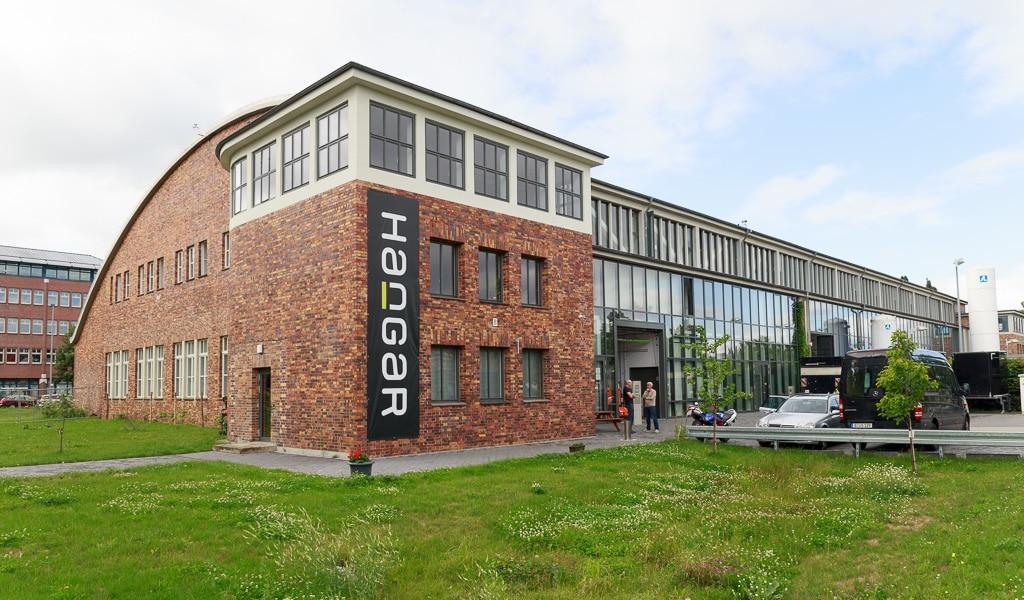 Gebäude des Studio Hangar Berlin