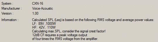 Infofenster GLL_Bühnenmonitor CXN-16 Voice Acoustic