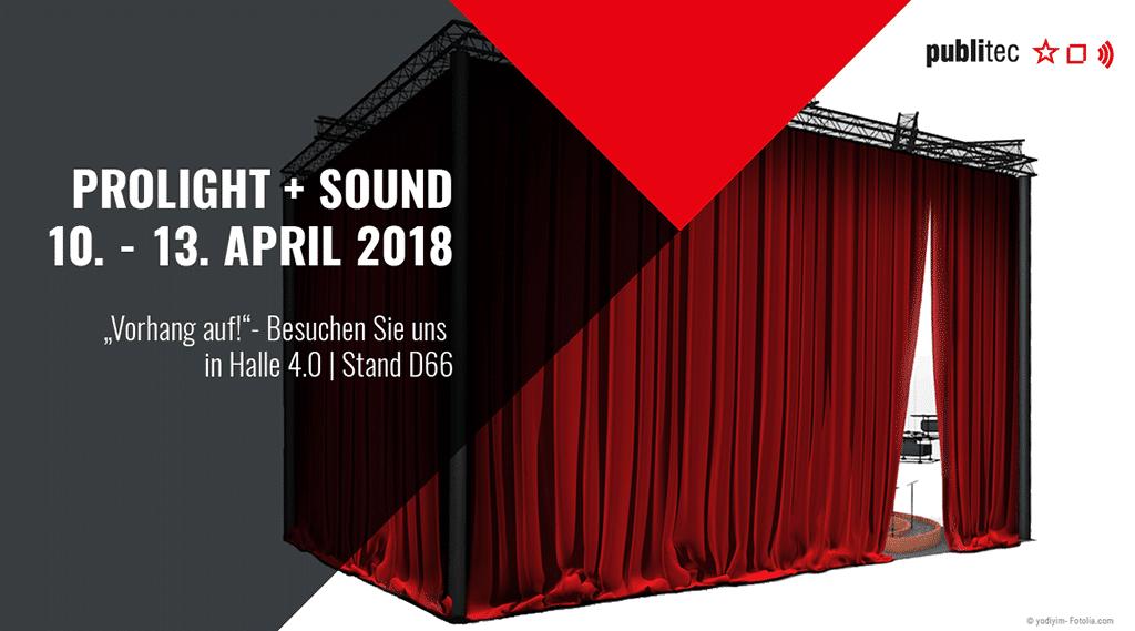 publitec auf der Prolight+Sound 2018