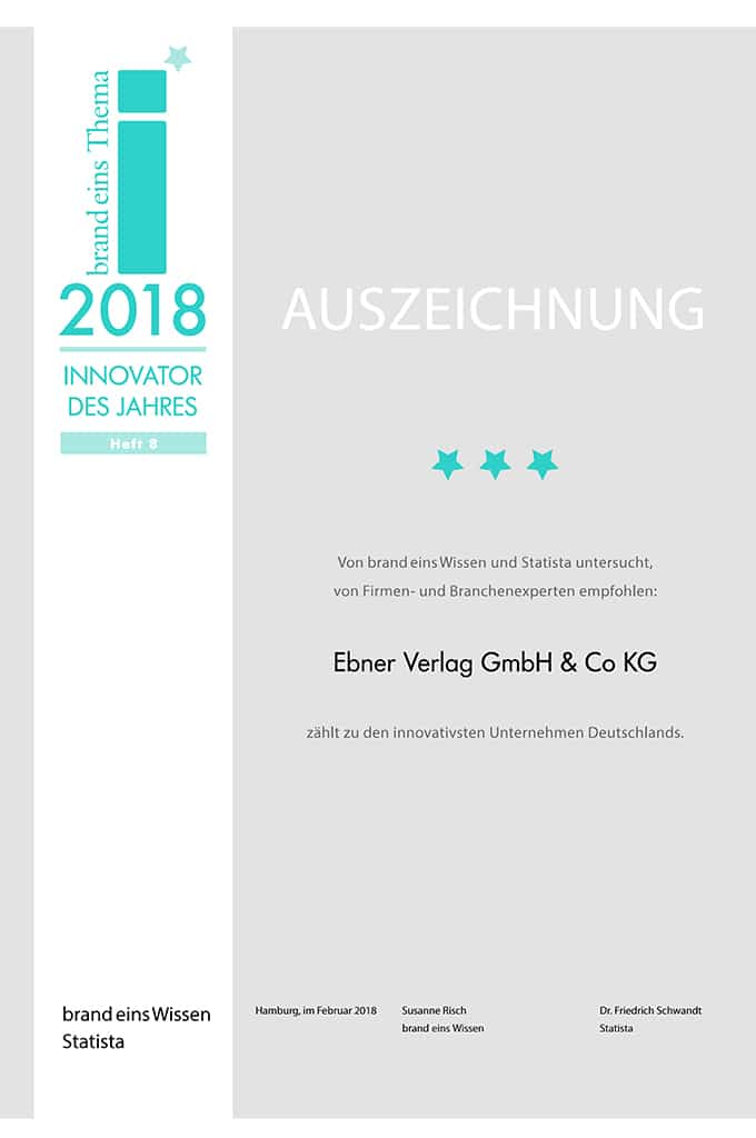 Ebner Verlag: Innovator des Jahres