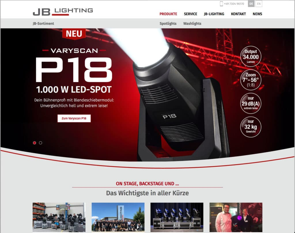 Homepage JB Lighting