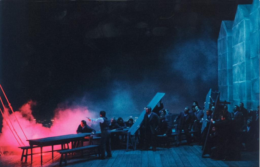 Nebelszene im Theater