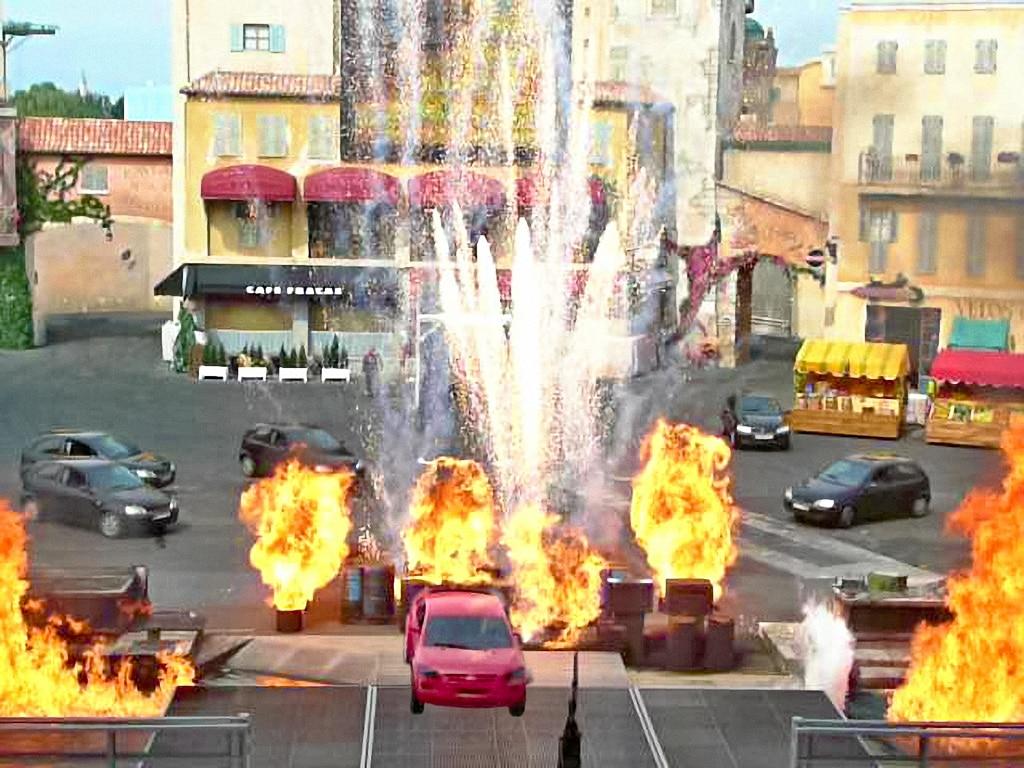 Stunt-Szene im Disneyland Resort Paris