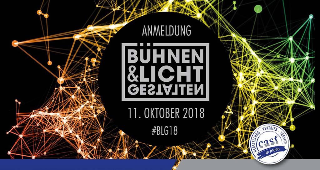 Banner für das Netzwerk-Event Bühnen & Licht Gestalten von Cast 2018