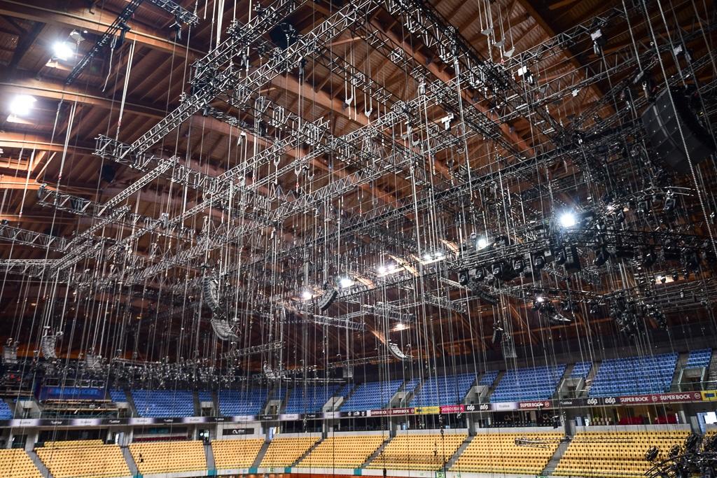 Bühnendach-Konstruktion in der Altice Arena in Lissabon