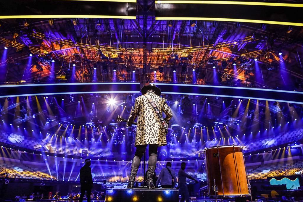 Blick von der Bühne in die Halle des ESC 2018