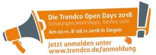 Aktionslogo zu den Trendco Open Days 2018