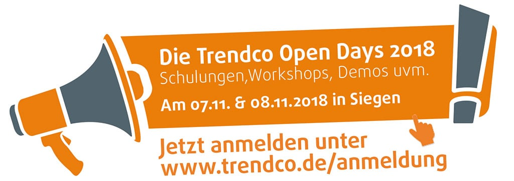 Aktionslogo zu den Trendco Open Days 2018