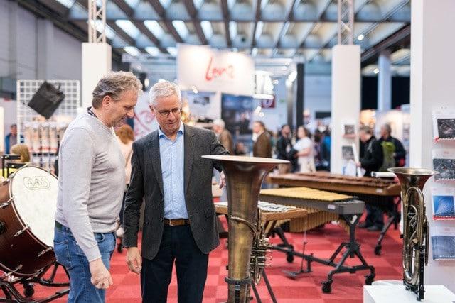 Instrumentenauswahl auf der Musikmesse in Frankfurt