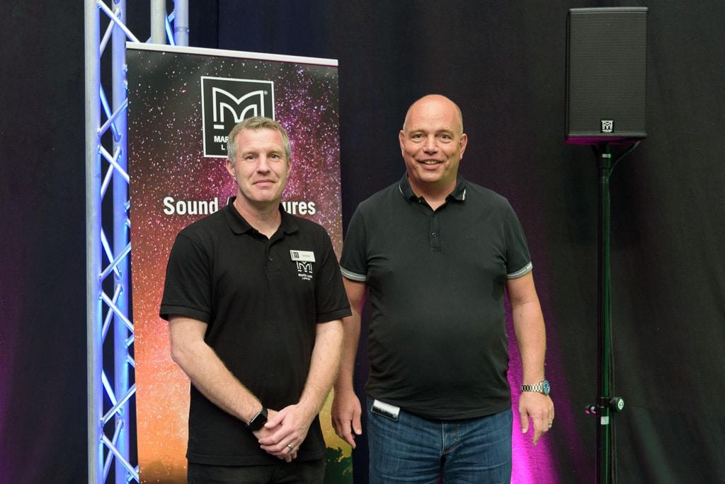 Dan Orton (Product Group Manager Martin Audio) und Tom Mikus (Sales & Marketing Director Professional Audio bei Audio-Technica)