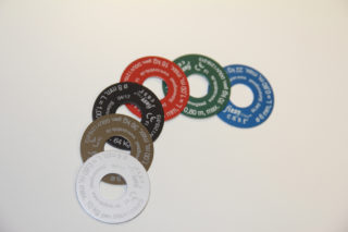 Kennzeichnungsscheiben für Safety-Seile der Firma cast