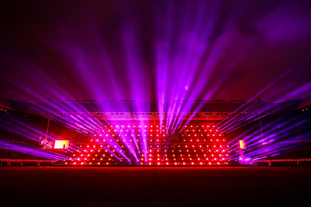 Lichttechnik beim Festival