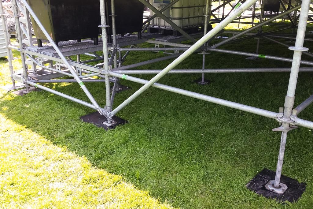 Gerüstsystem für Bühnenbau