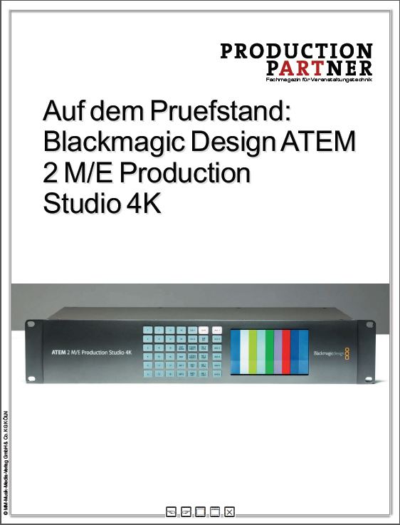 Produkt: Blackmagic Design ATEM 2 M/E Production Studio 4K