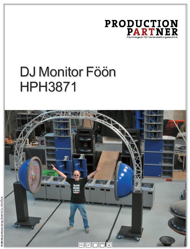 Produkt: DJ Monitor Föön HPH3871