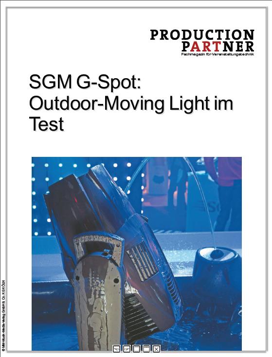Produkt: IP-65 Moving Head von SGM im Test